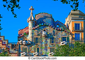 Casa Batllo, Barcelona - Spain - Casa Battlo designed by;...