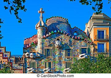 Casa, batllo, Barcelona, -, españa