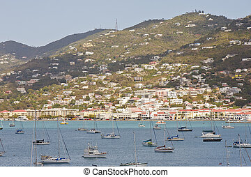 Sailboats in Bay of St. Thomas