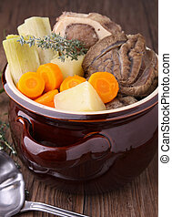 beef stew and vegetable - casserole with vegetable and beef...