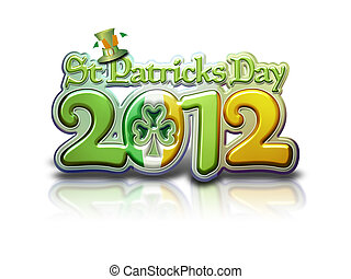 St Pats Graphic 2012 Lettering - St Patricks Day 2012...