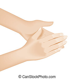 Hand washing Illustration on white background for design