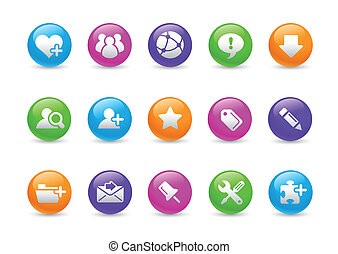 Blog and Internet Rainbow - Glossy web buttons for your...
