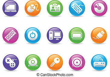Computer & Devices / Rainbow - Glossy web buttons for your...