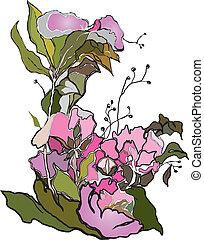 A composition of flowers