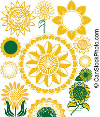 Sunflower Collection - Collection of sunflower themed...