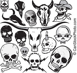 Skull Collection - Clip art collection of various types of...