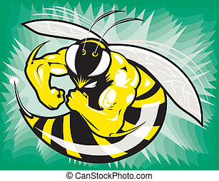 Stinger - Mascot of a tough, mean, muscular wasp