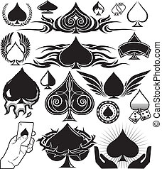 Spade Collection - Spade themed icons, symbols and clip art