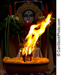Uma Devi - The drum ceremony for holy god of Hindu.