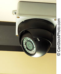 Security surveillance camera concepts of safety, security...