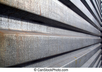 metallic grate - an angles shot of metallic galvanized steel...