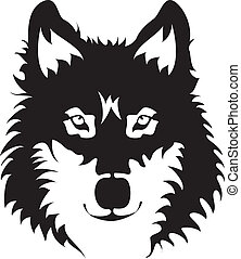 Wolf Face - illustration of wolf face