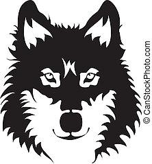 Wilk, twarz