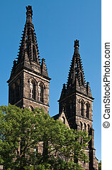 Prague Vysehrad - Church of St Peter and Paul at Vysehrad,...