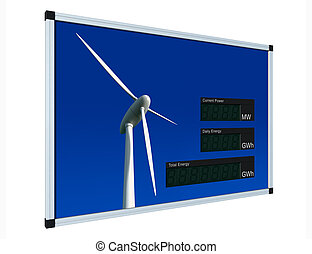 Wind power display - english - LCD-digits without values,...