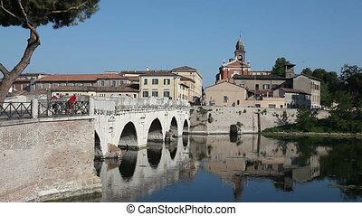 Tiberius' Bridge, Rimini - Historical roman Tiberius' bridge...