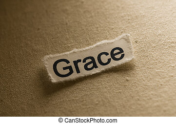 Grace - Picture of a word grace.