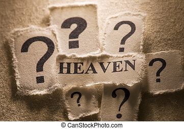 Heaven - Picture of a word heaven.