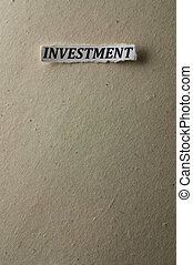 Investment - Picture of a word investment