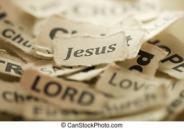 Jesus - Picture of a word Jesus.