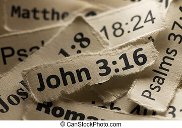 John 3:16 - Picture of a paper with John3:16 written on it