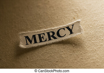 Mercy - Picture of a word mercy.