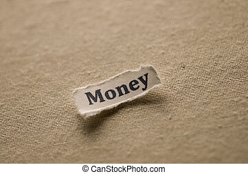 Money - Picture of a word money.