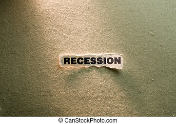 Recession - Picture of a word recession