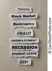Recession - Concept of a recession.