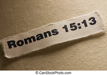 Romans 15:13 - Picture of scripture.