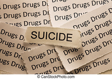 Suicide - Picture of a word suicide.