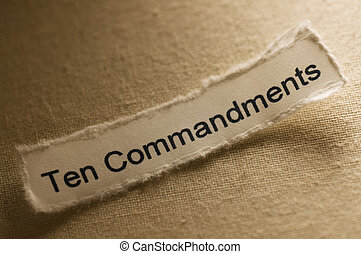 Ten Commandments - Picture of a word ten commandments