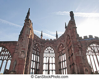 Coventry Cathedral ruins - Ruins of bombed St Michael...