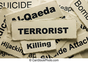 Terrorist - Picture of a word terrorist.