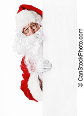 Santa Claus with billboards isolated