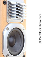 Audio speaker - multimedia audio speaker on the white...