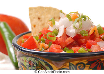 Spicy salsa with variety of ingredients