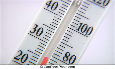thermometer on white background 2 - thermometer on white...