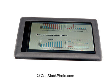 Viewing financial report - Financial report on touchscreen...