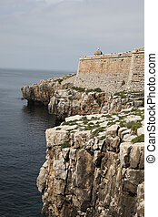 Peniche Fortress - Portugal - Rocky cliffline and the walls...