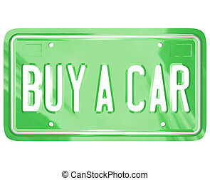Buy a Car License Plate Auto Shopping Buying Vehicle - A...
