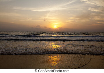 Sunset on the Beach - Sunset on Karon Beach in Phuket...