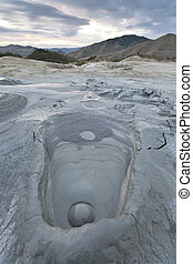 Mud Volcanoes In Buzau, Romania - Strange landscape produced...
