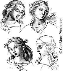 Pen drawings by Raphael, at the Academy of Fine Arts of...