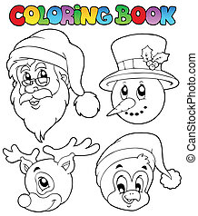 Coloring book Christmas topic 8 - vector illustration.