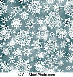 Blue christmas background with snowflake EPS 8 - Blue...