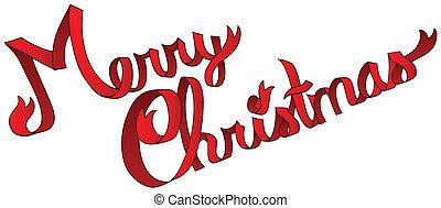 Merry Christmas ribbon sign