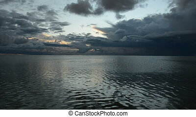 early morning sea light and clouds - early morning sea bay...
