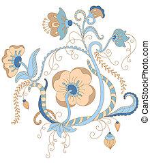 Vector floral ornament.